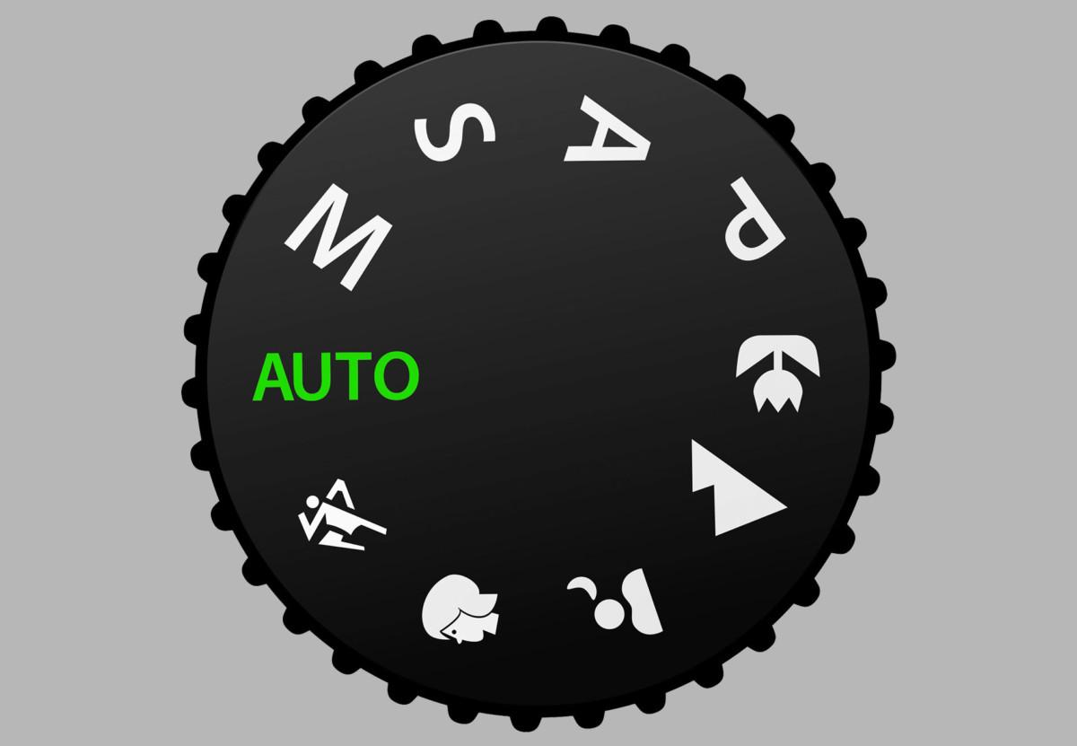 Le mode automatique (Auto) sur la molette des modes