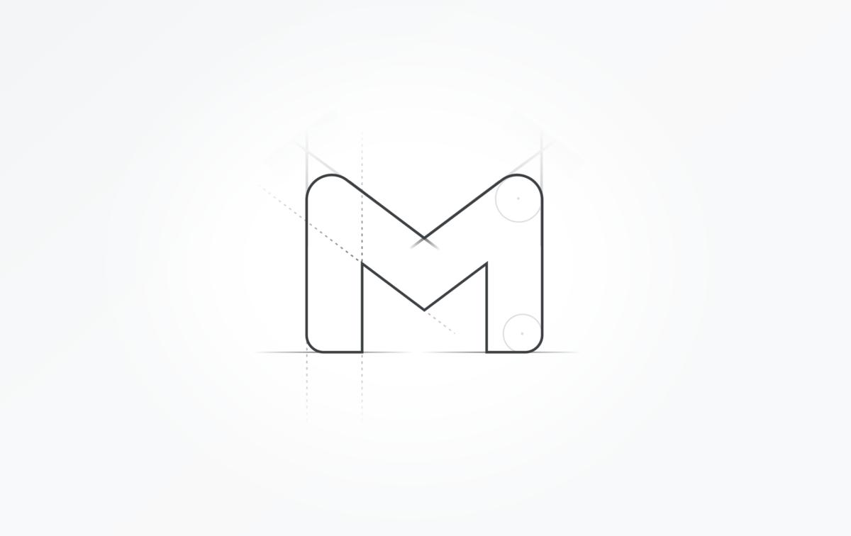 Croquis logo Gmail