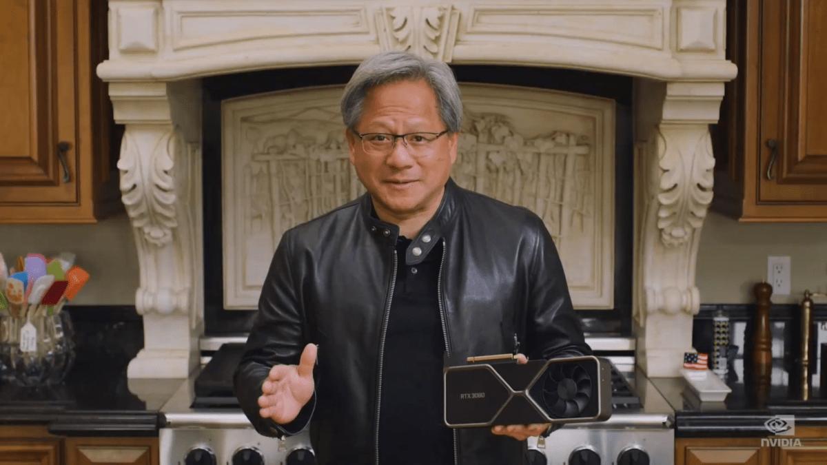 La RTX 3080 dans les mains du PDG de Nvidia