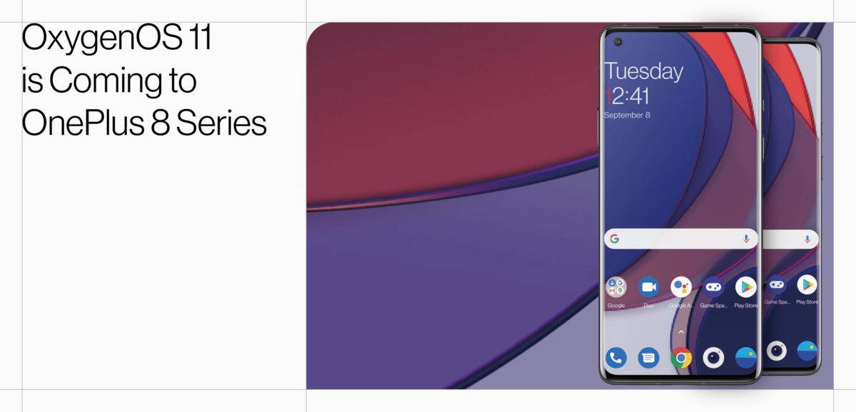Android 11 open beta OnePlus 8 et OnePlus 8 Pro