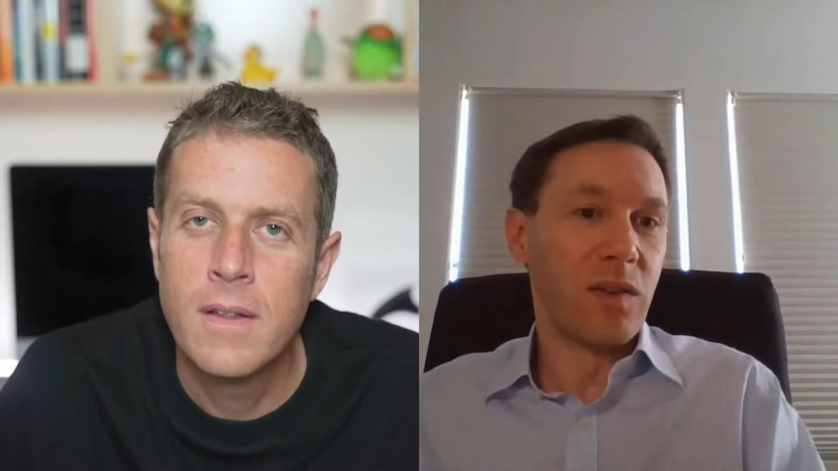 Eric Lempel, à droite, lors de son interview