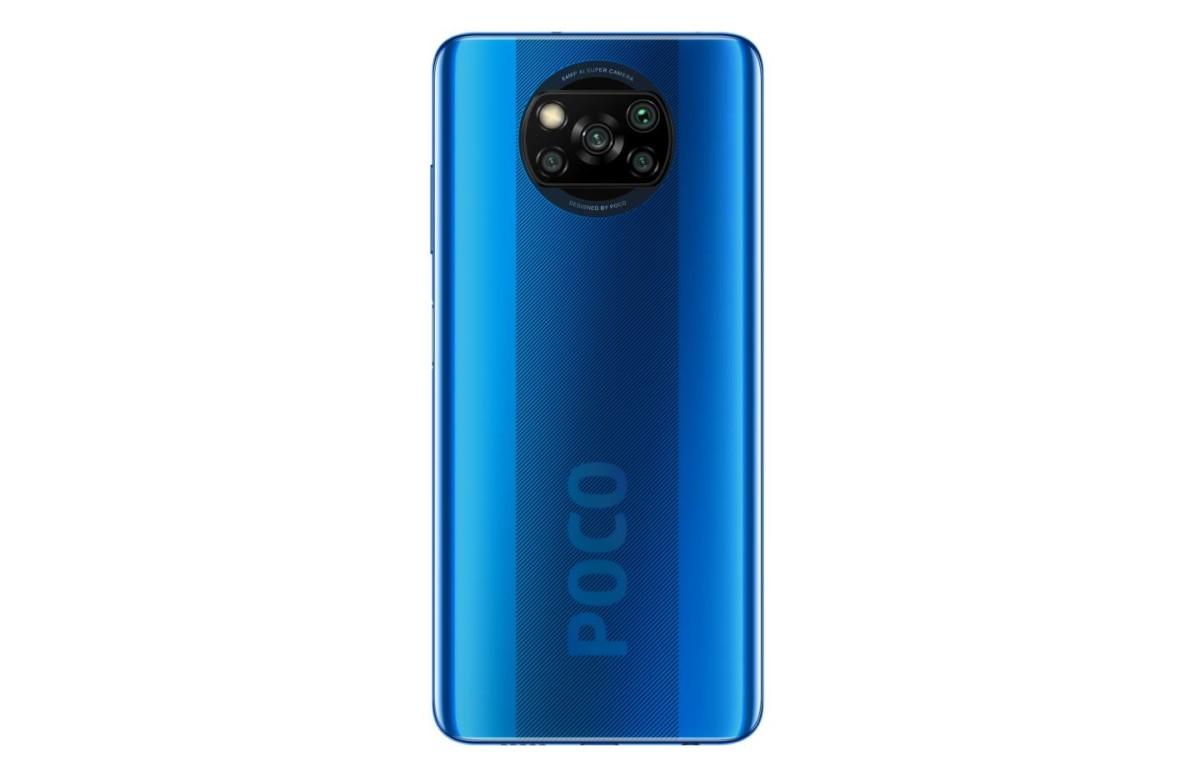 Le dos du Poco X3, avec ses quatre capteurs photo.