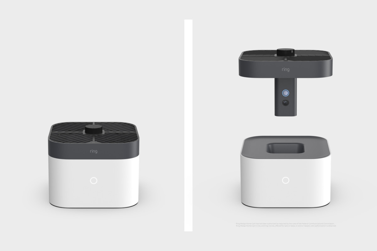 Amazon a eu l'idée d'ajouter des hélices à une caméra connectée : voici un drone de sécurité connecté