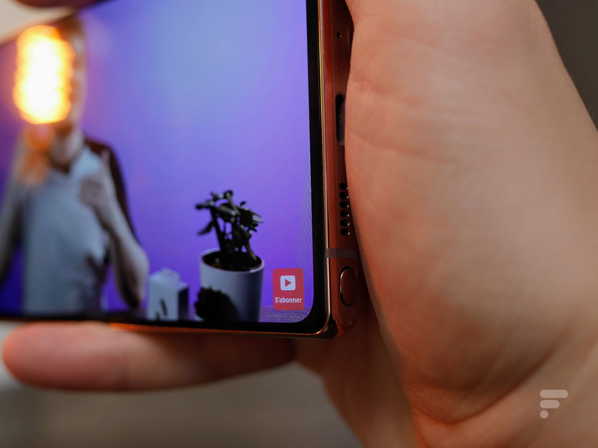 Le haut-parleur du Samsung Galaxy Note 20 est facilement bouché par la main