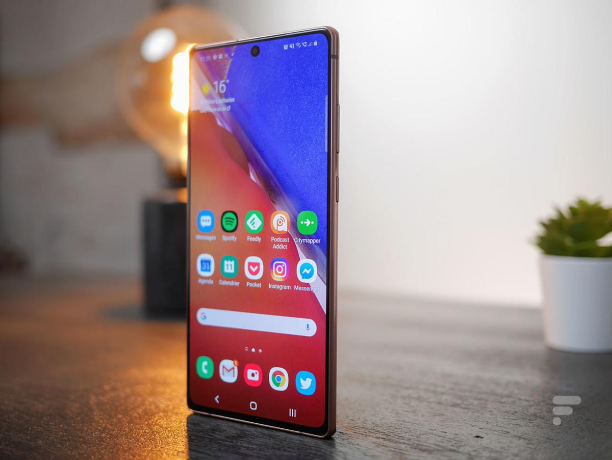 L'écran du Samsung Galaxy Note 20