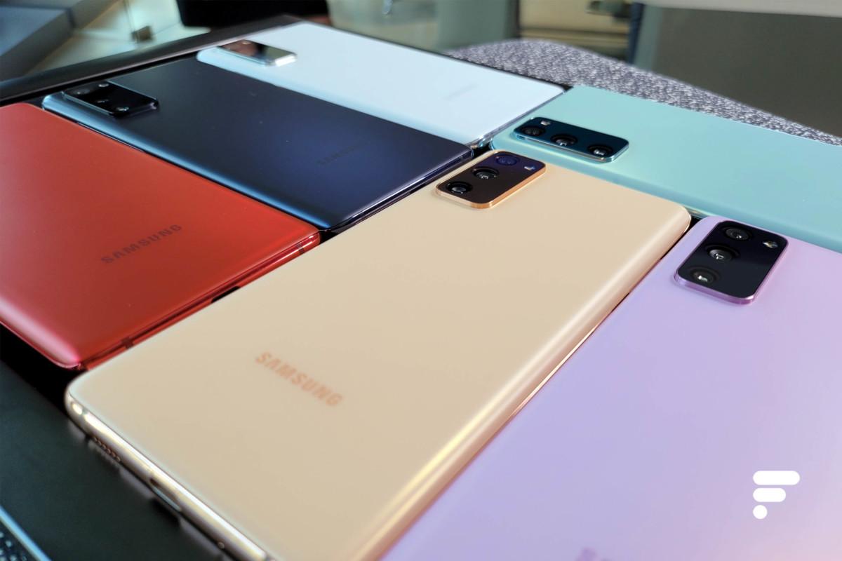 Dos colorés Samsung Galaxy S20 FE