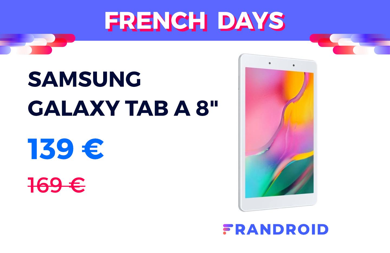 Samsung Galaxy Tab A 8″ à 139 € : c'est la tablette pas chère des French Days - Frandroid