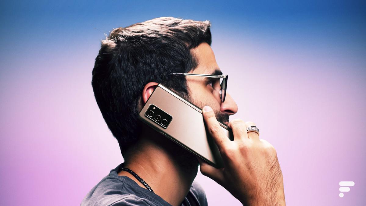 Appel avec Samsung Galaxy Z Fold 2
