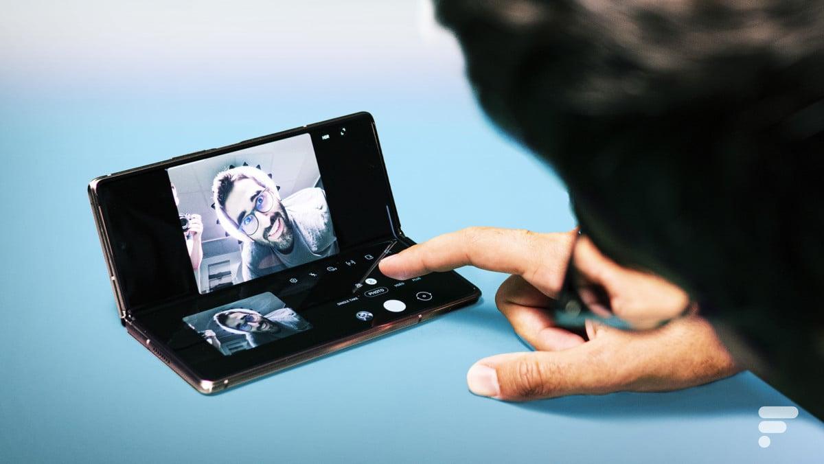 Flex Mode appareil photo Samsung Galaxy Z Fold 2
