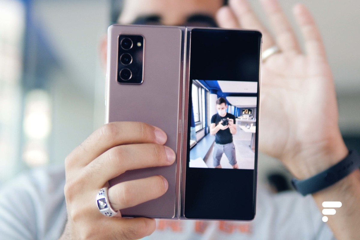 Prise de photo avec le Samsung Galaxy Z Fold 2