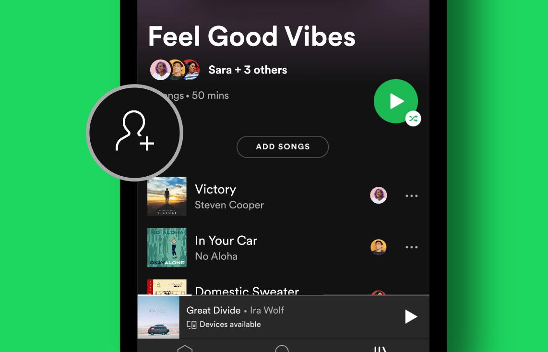 Les playlists collaboratives sur Spotify