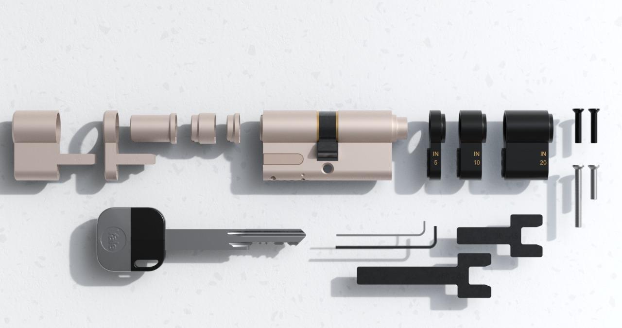 Le cylindre ajustable de la serrure connectée Linus de Yale