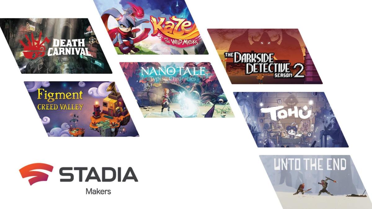 Les titres du programme Stadia Makers