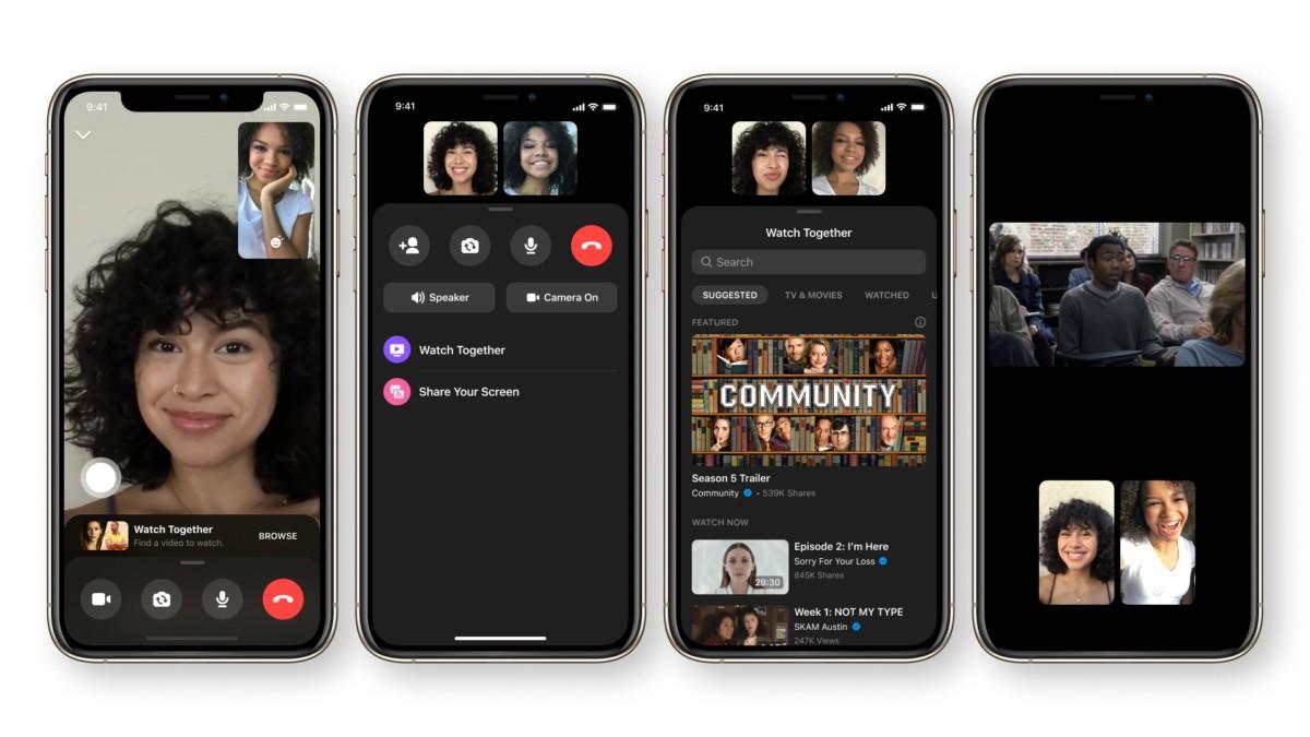 La nouvelle fonction Watch Together sur Facebook Messenger