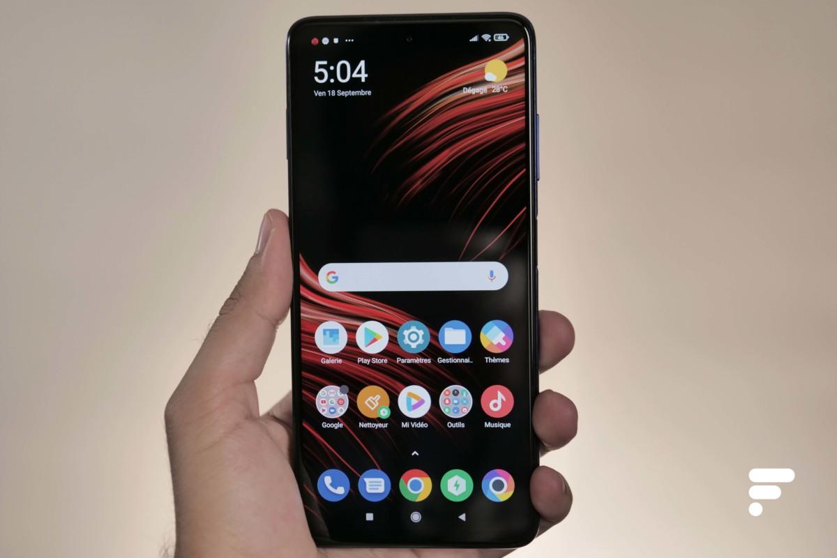 Xiaomi Poco X3 de face