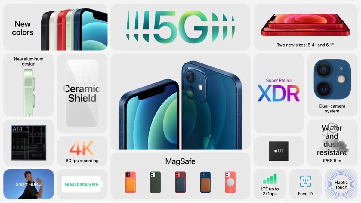 iPhone12 et 12mini officialisés: les smartphones 5G les plus abordables d'Apple