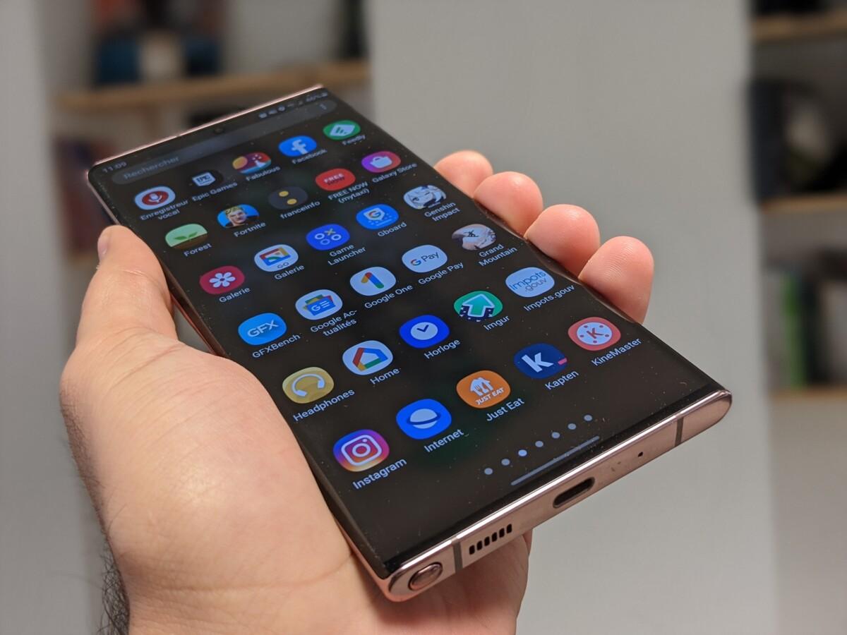 Grille d'applications sur smartphone