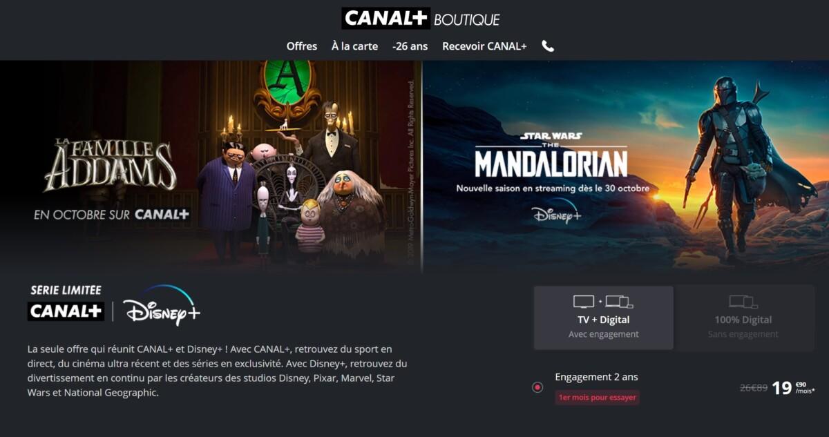 Canal+ avec Disney+ en série limitée à seulement 19,90 euros par mois