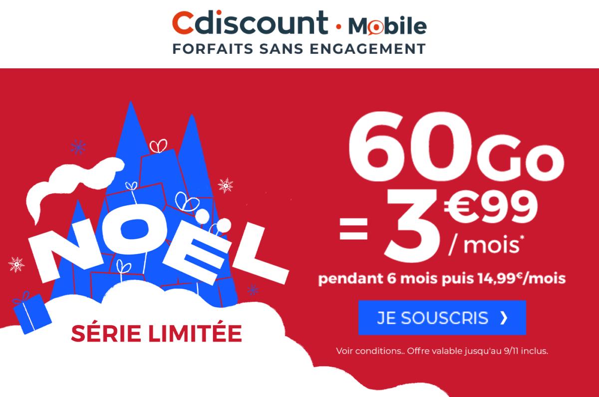 Derniers jours pour profiter du forfait mobile 60 Go à 3,99 euros par mois
