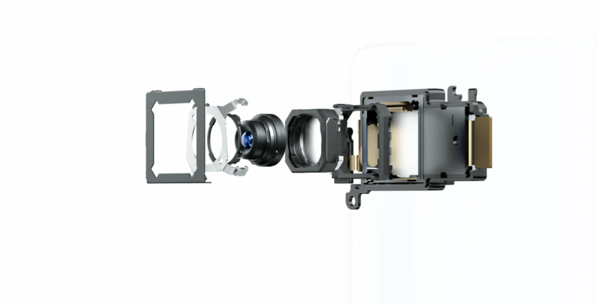 The main sensor gimbal system in detail.