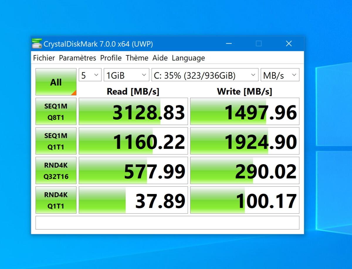 Les performances du SSD