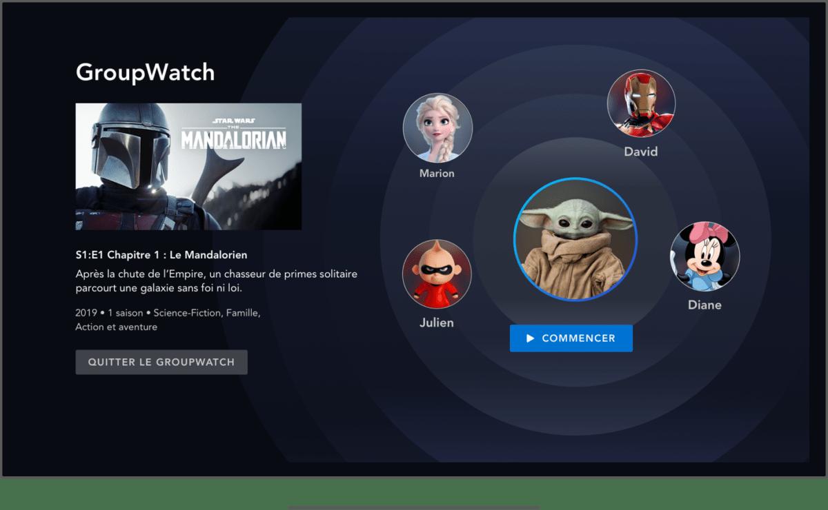 La nouvelle fonction GroupWatch sur Disney+