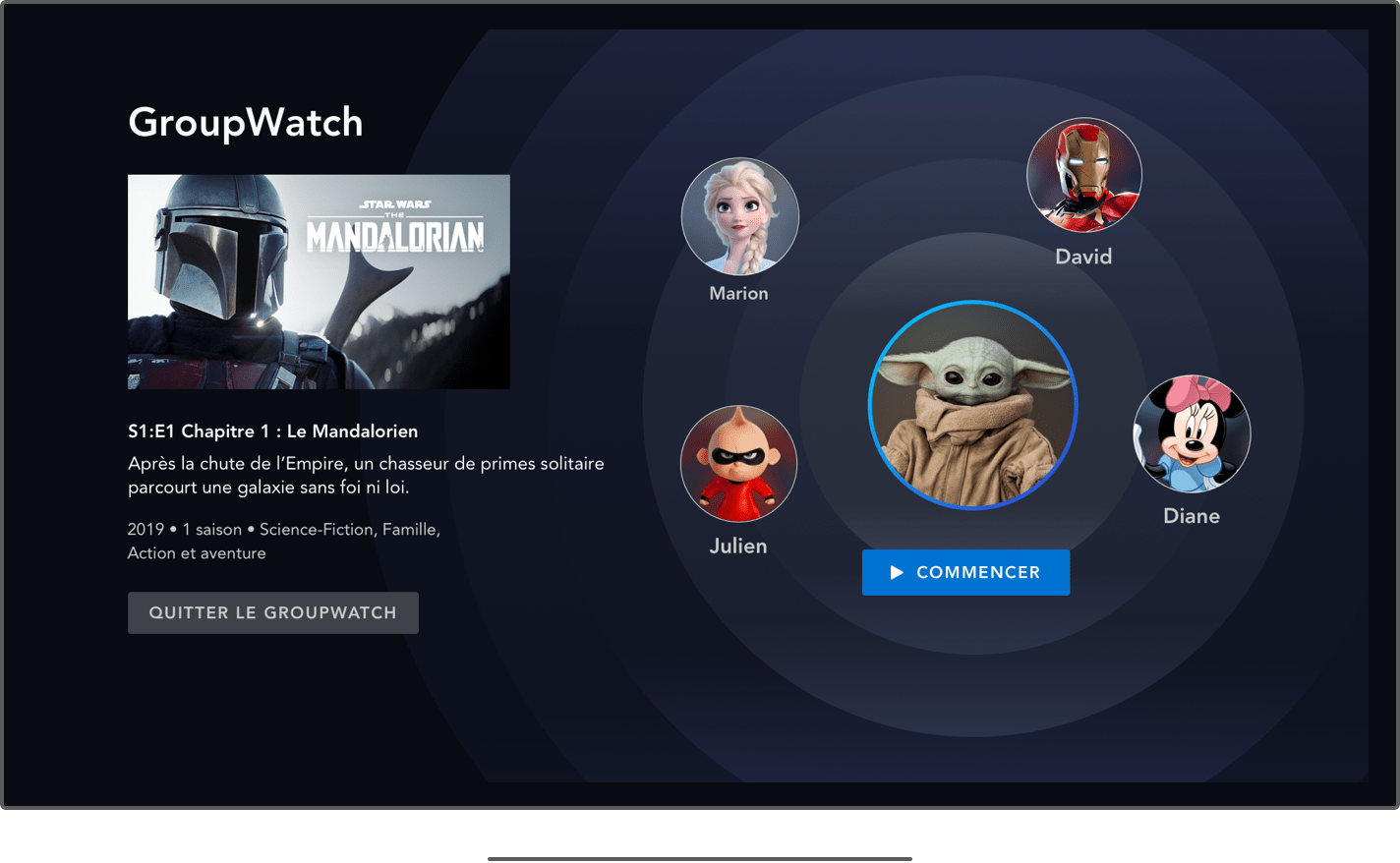 The new GroupWatch feature on Disney +