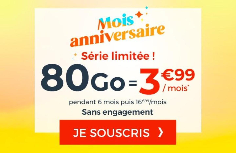 Cdiscount lance un forfait 80 Go à 3,99€ / mois — Bon plan
