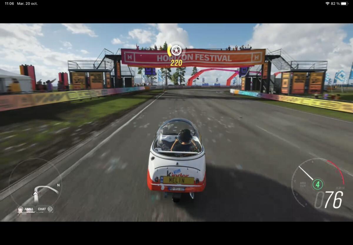 Forza Horizon 4 sur iPad