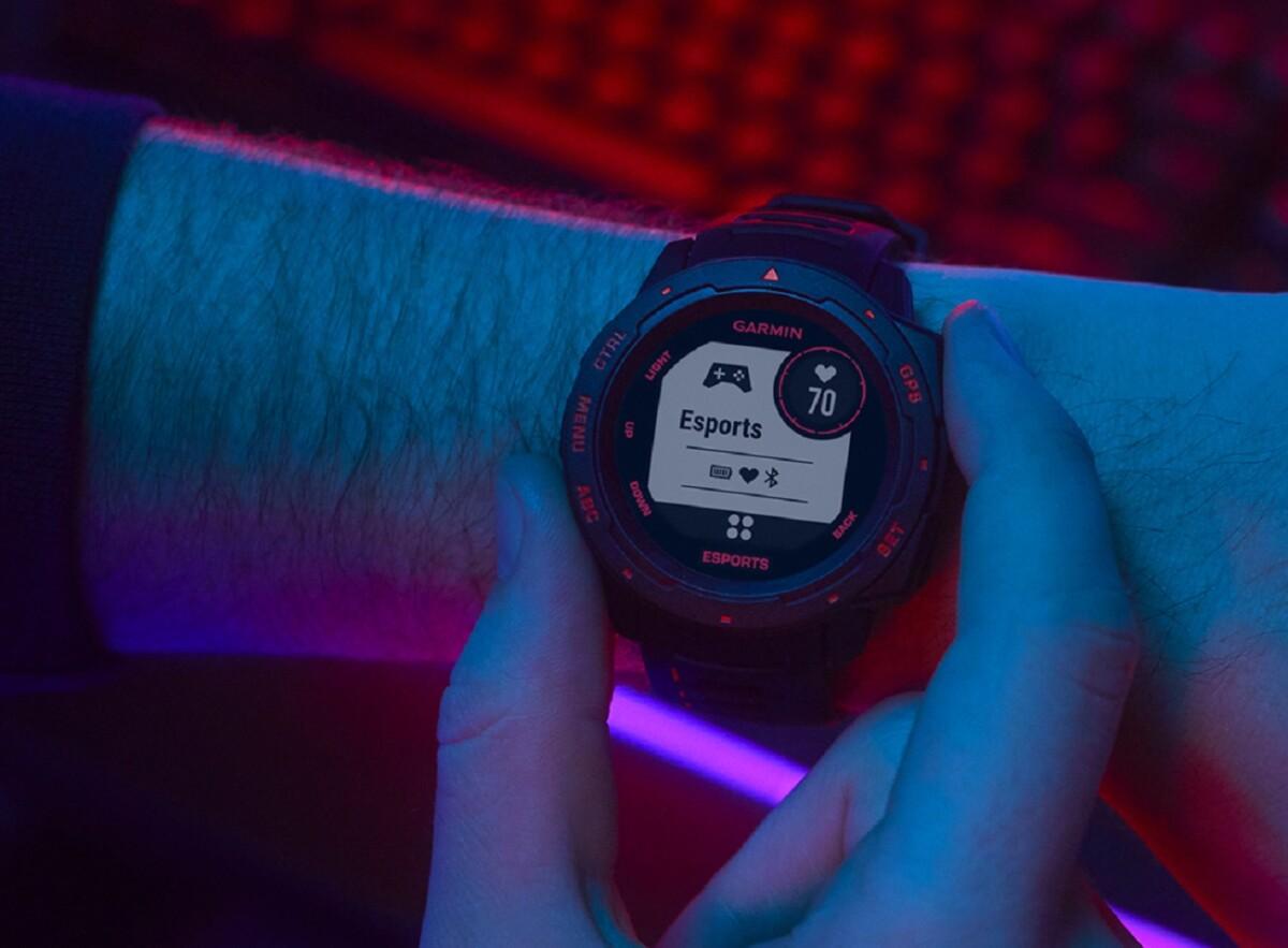 The Garmin Instinct Esports Edition watch
