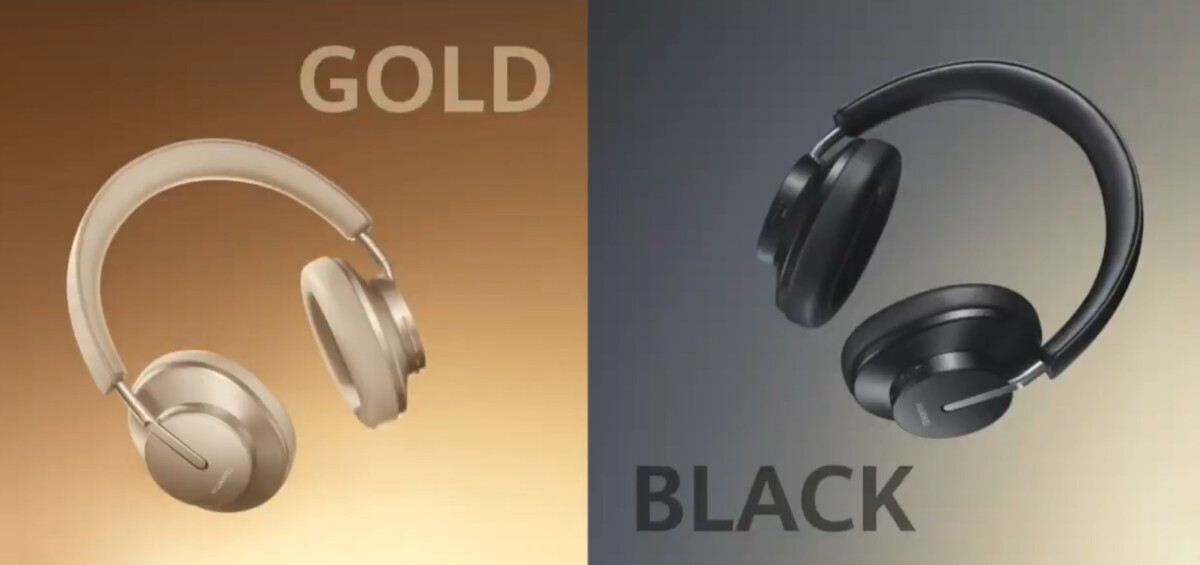 The Huawei FreeBuds Studio will be available in black and gold