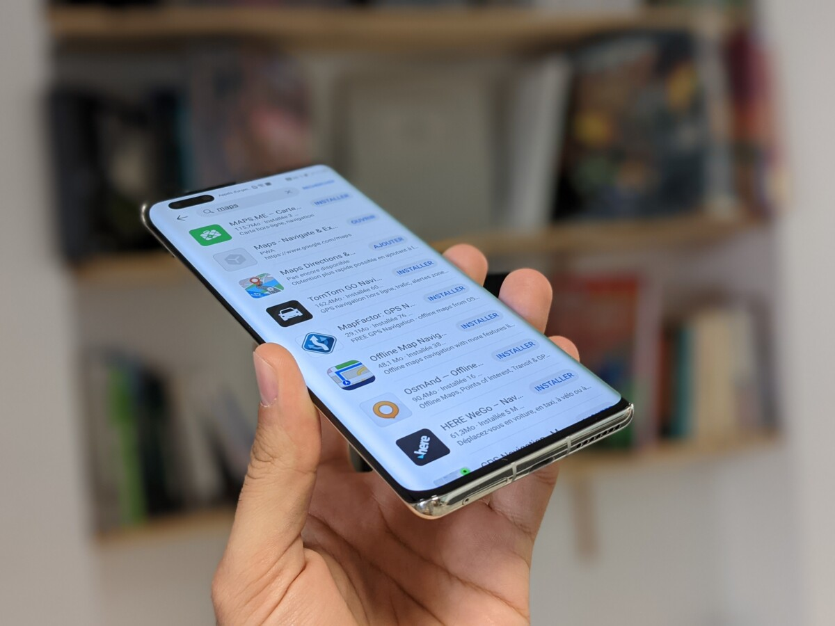 Huawei Mate 40 Pro results AppGallery for Maps