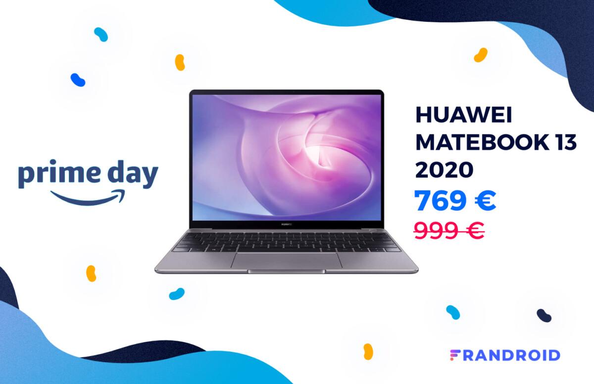 Amazon baisse encore une fois le prix du Huawei MateBook 13 2020 pour le Prime Day