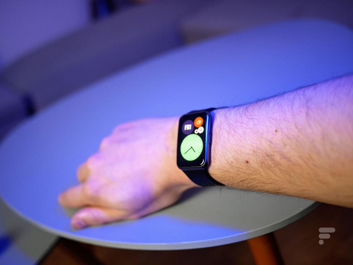 L'affichage de la Huawei Watch Fit