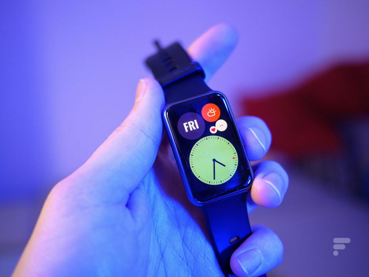 L'écran de la Huawei Watch Fit