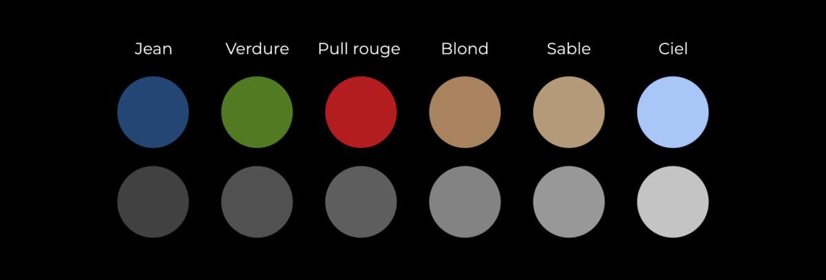 Suivant les couleurs présentes dans l'environnement de votre photo, les gris seront plus ou moins sombres dans le cliché en noir et blanc.