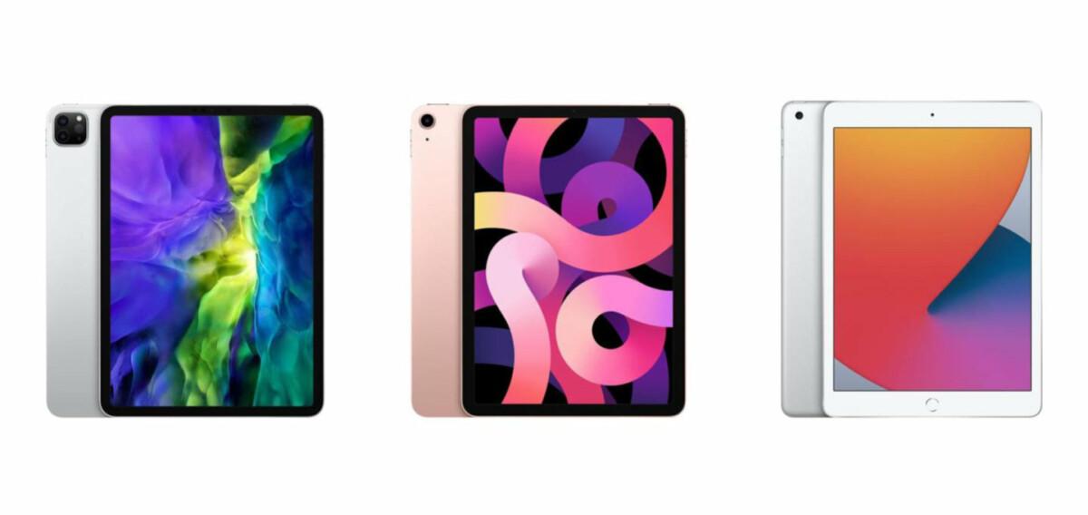 iPad Pro 2020, iPad Air 2020 and iPad 8th generation