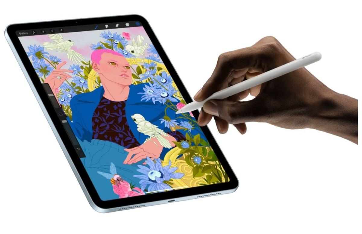 Apple's latest iPad Air works with the second-generation Apple Pencil, originally designed for the iPad Pro