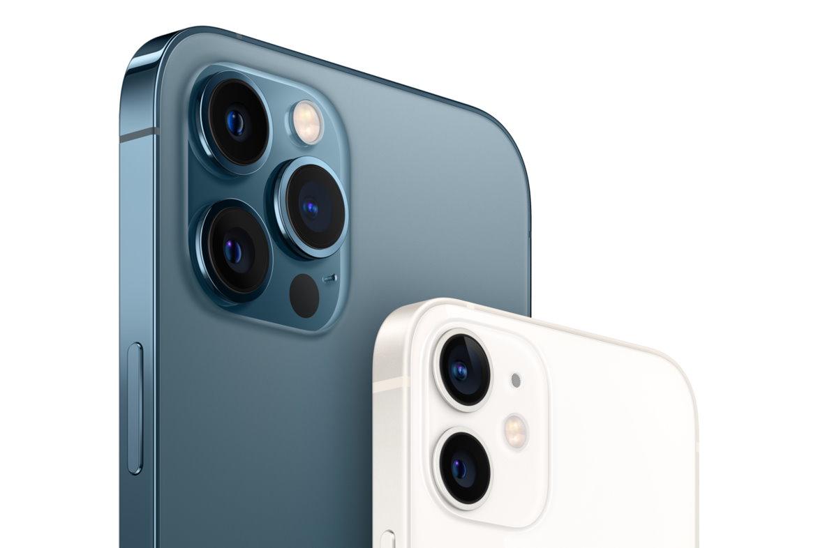 iPhone12 Pro à gauche, et iPhone12 à droite