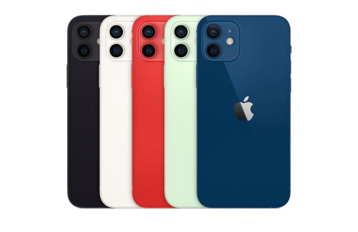 Différents coloris d'iPhone12 sont disponibles