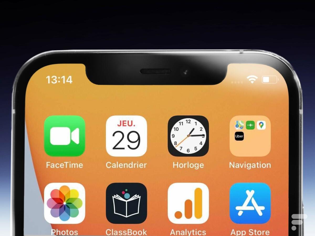 L'encoche de l'iPhone 12 Pro