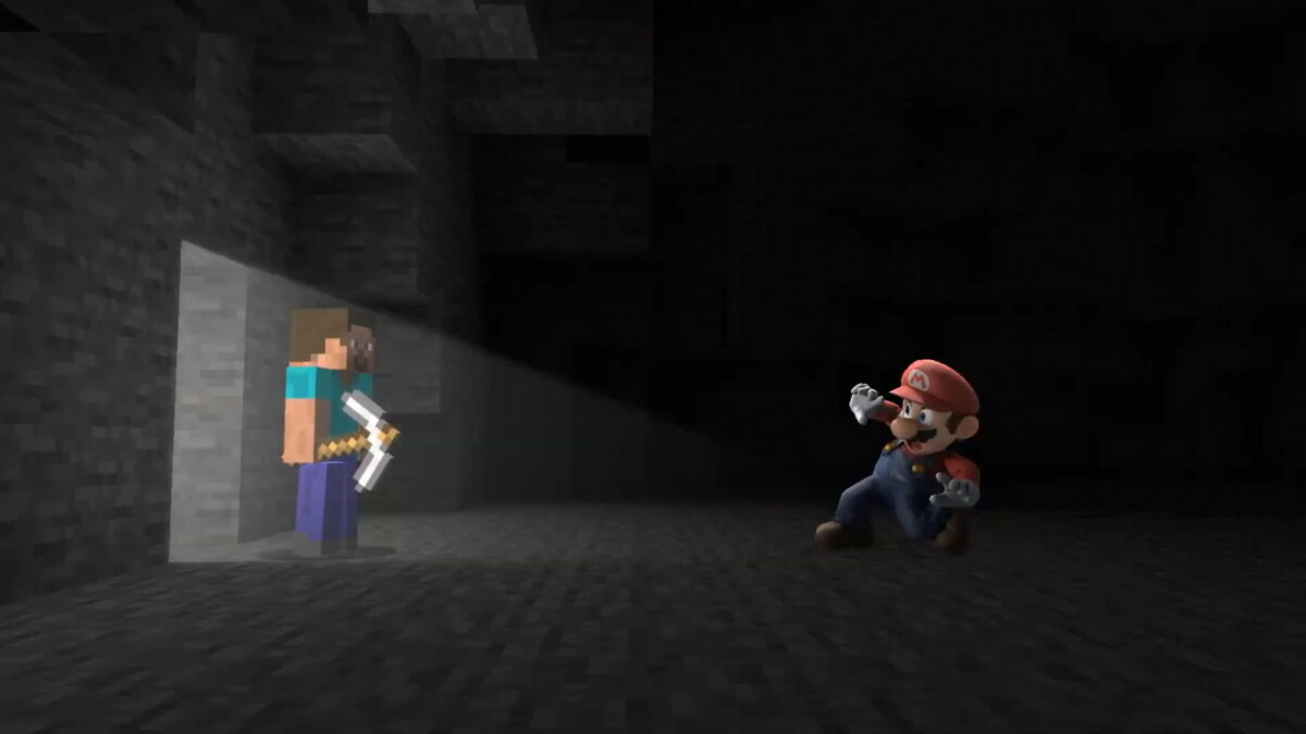 Steve from Minecraft joined Super Smash Bros