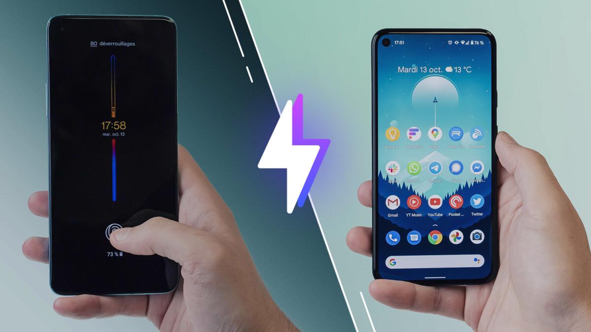 Comparatif OnePlus 8T et Google Pixel 5