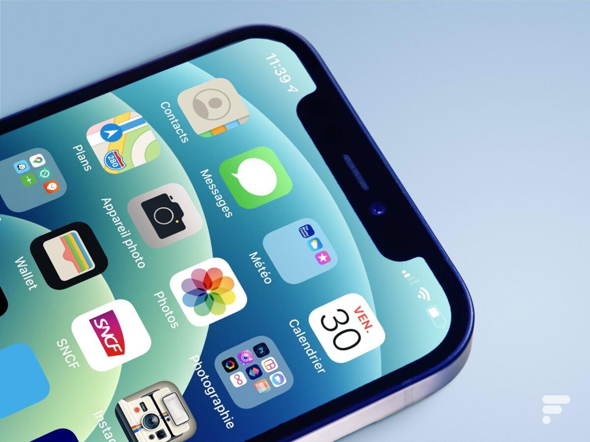 L'encoche de l'iPhone12 est toujours bien présente