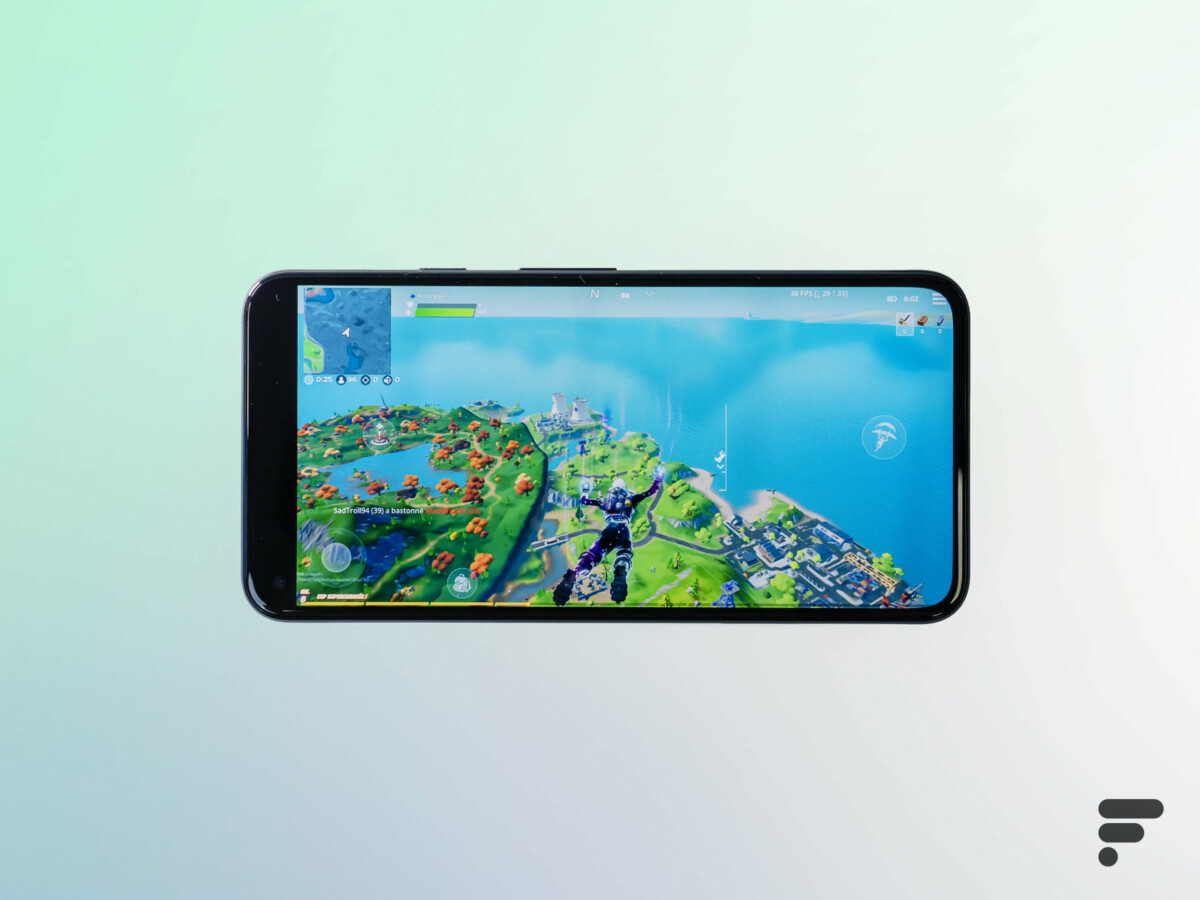 Fortnite sur le Pixel 5