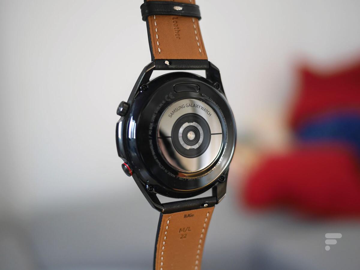 Le capteur de rythme cardiaque de la Samsung Galaxy Watch 3