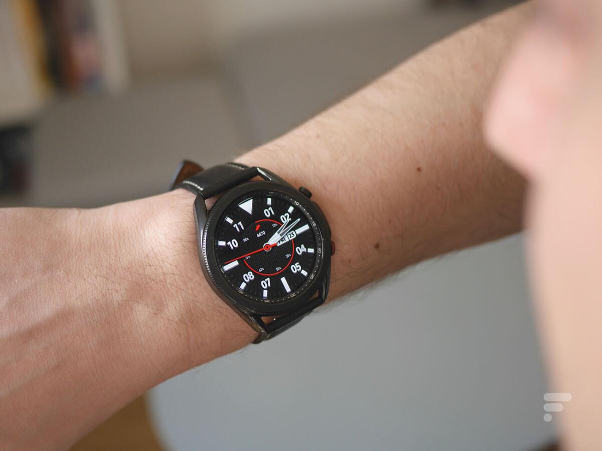 L'écran de la Samsung Galaxy Watch 3