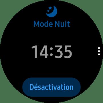 Le mode nuit sur la Samsung Galaxy Watch 3