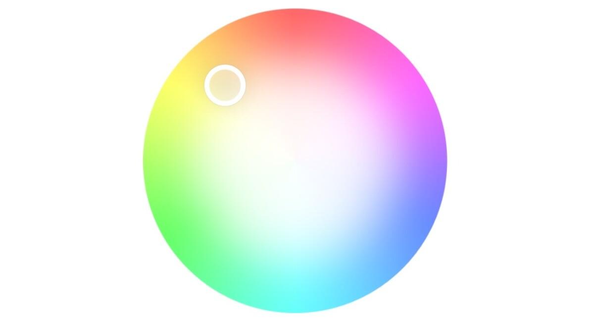 Le paramètre de température pour obtenir la meilleure colorimétrie possible.