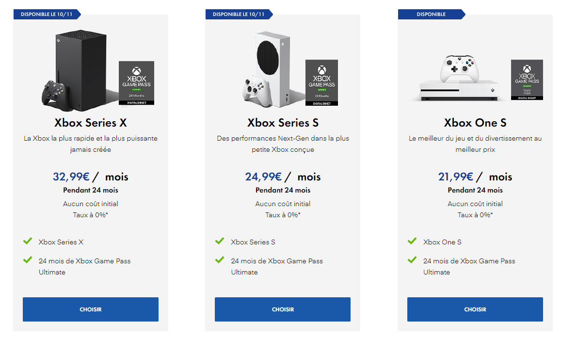 Xbox All Access offers at Micromania